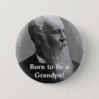 Born to Be a Grandpa! Gear 6 Cm Round Badge