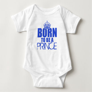 born to be a prince baby kids t shirt romper