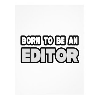 Born To Be an Editor Flyer Design