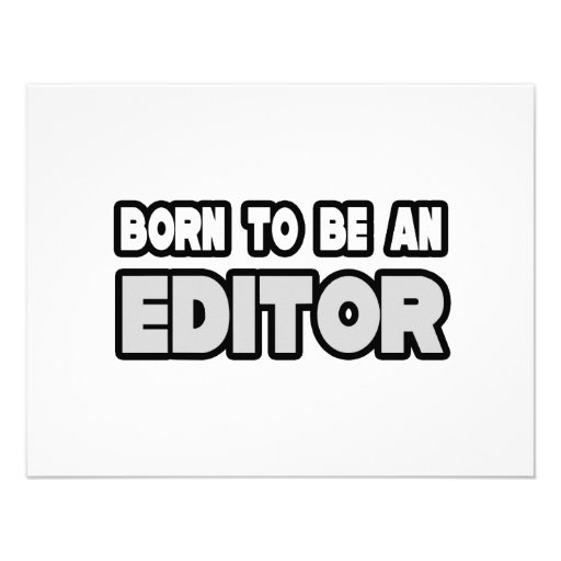 Born To Be an Editor Personalized Invitation