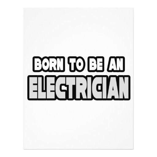 Born To Be an Electrician Personalized Flyer