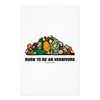 Born To Be An Herbivore (Pile Of Vegetables) Custom Stationery