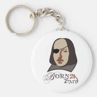 Born To Be Bard Basic Round Button Key Ring