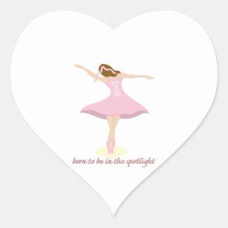 Born To Be In The Spotlight Heart Sticker