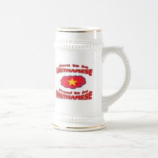 Born to be Vietnamese, proud to be Vietnamese Beer Steins