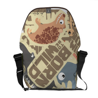 Born (to be) Wild African Cartoon Animals Bag Messenger Bag
