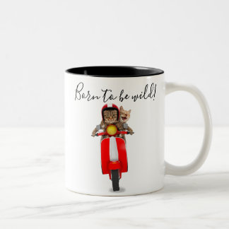 Born to be wild! Crazy Cat Mug