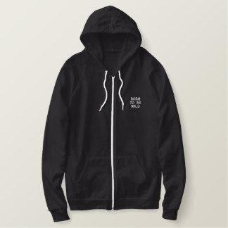Born To Be Wild Embroidered Fleece Zip Hoody