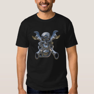 born to be wild, skull/wrenches/DIY text T Shirt