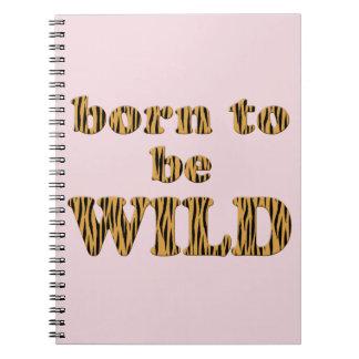 Born to be wild - Tigerprint Photo Notebook