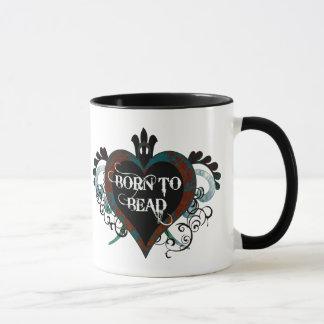 Born to Bead (teal) mug