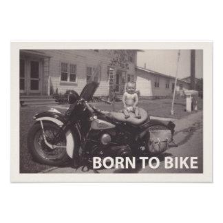 born to bike personalized announcements