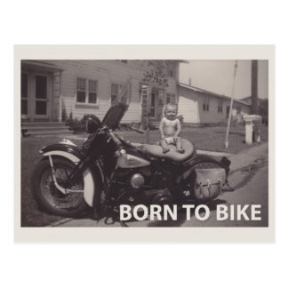 born to bike postcard