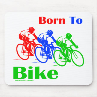 BORN TO BIKE T-SHIRTS AND GIFTS MOUSE MAT