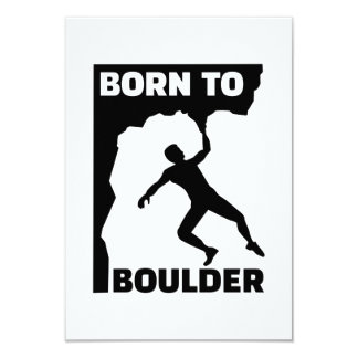 Born to Boulder 9 Cm X 13 Cm Invitation Card