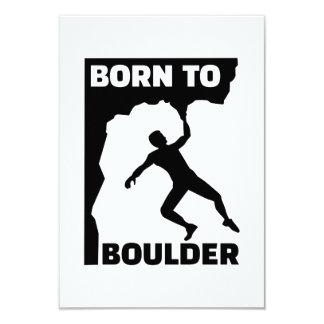 Born to Boulder 9 Cm X 13 Cm Invitation Card