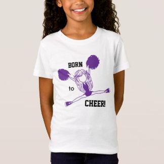 Born to Cheer - Purple Girl Cheerleader T-Shirt