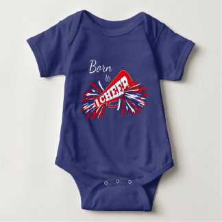 Born to Cheer - Red, White and Blue Baby Bodysuit