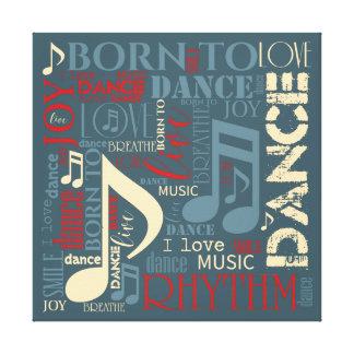 Born to Dance Blue ID277 Canvas Print