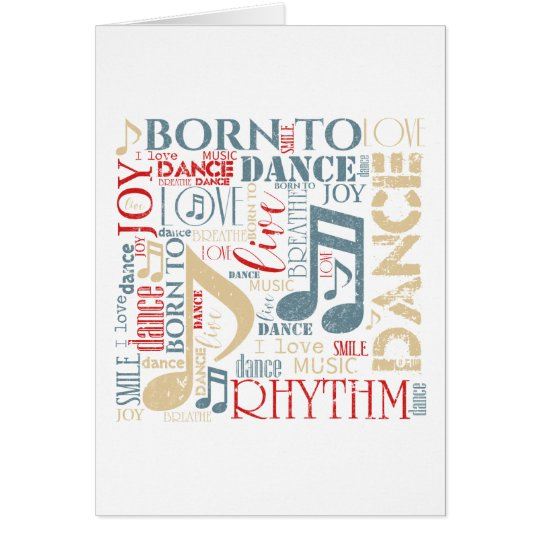 Born to Dance Blue ID277 Card