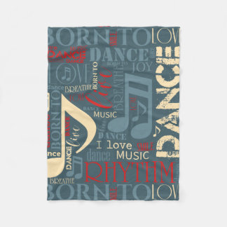 Born to Dance Blue ID277 Fleece Blanket
