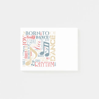 Born to Dance Blue ID277 Post-it Notes