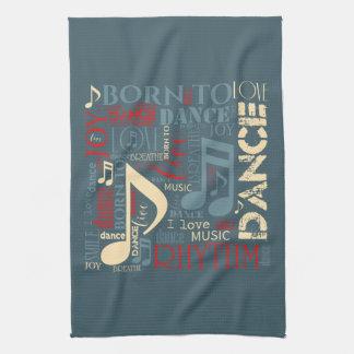 Born to Dance Blue ID277 Tea Towel
