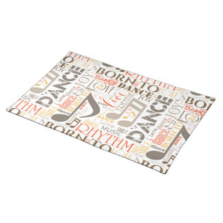 Born to Dance Brown ID277 Placemat