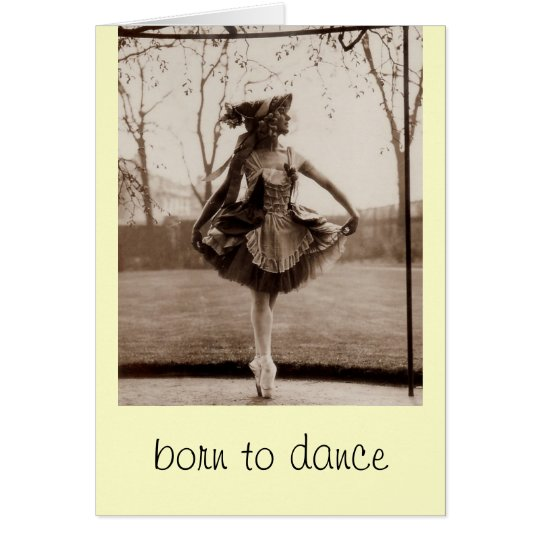 Born to dance note cards