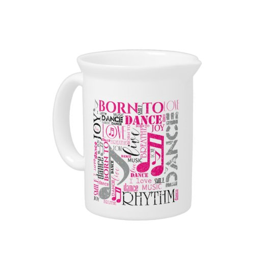 Born to Dance Pink ID277 Drink Pitchers