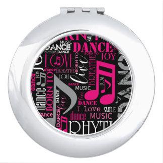 Born to Dance Pink ID277 Vanity Mirror
