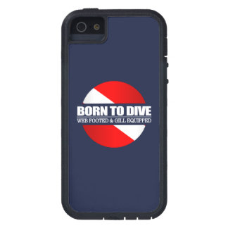 Born To Dive (rd) iPhone 5 Cases