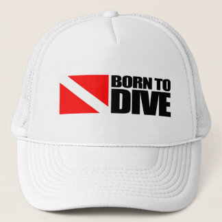 Born To Dive Trucker Hat