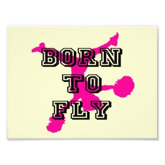Born to Fly cheerleader Photo Art