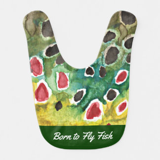 Born to Fly Fish, Humorous Trout Fishing Bib