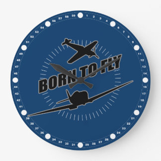 Born To Fly Large Clock