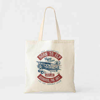 Born To Fly Sky Adventure Across The Sky Airplane Tote Bag