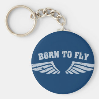 Born To Fly Wings Key Ring