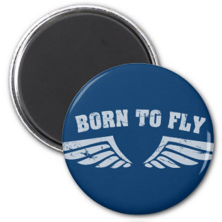 Born To Fly Wings 6 Cm Round Magnet