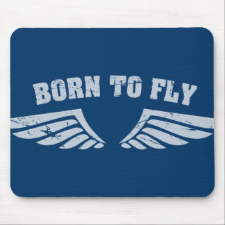 Born To Fly Wings Mouse Mat