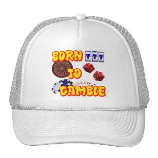 BORN TO GAMBLE TRUCKER HAT
