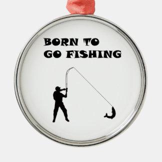 Born to go fishing christmas ornament