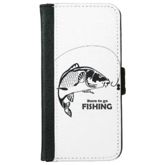 """Born to go fishing"" iphone case"