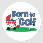 Born To Golf Stickers