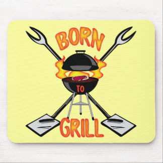 Born To Grill Mousepads