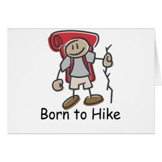 Born to Hike gifts. Card