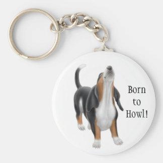 Born to Howl Hound Keychain