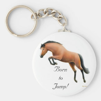 Born to Jump Keychain