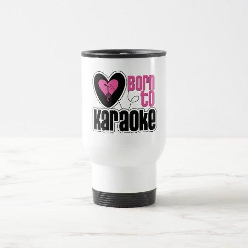Born to Karaoke Heart Stainless Steel Travel Mug