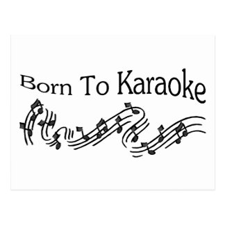 Born to Karaoke Postcard